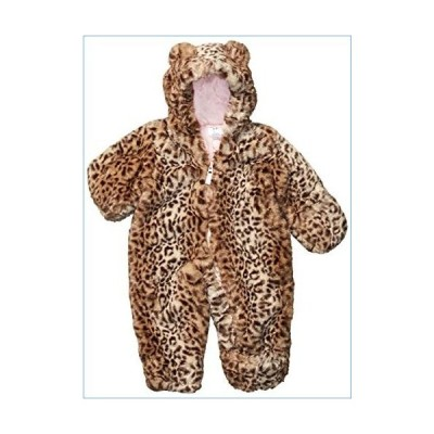 Carter's Baby Girls Bundle Up Cozy Pram with Ears, Footed Cheetah Print, 6/9 Months並行輸入品