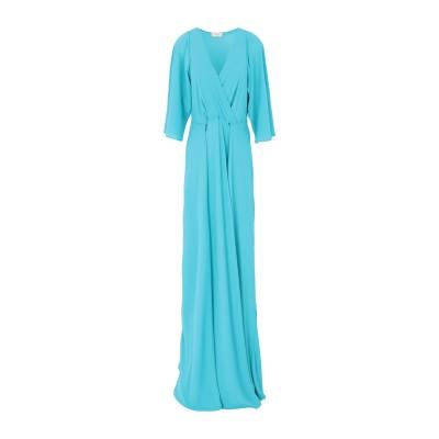 MAESTA ロングワンピース&ドレス ターコイズブルー 42 PES - ポリエーテルサルフォン 100% ロングワンピース&ドレス