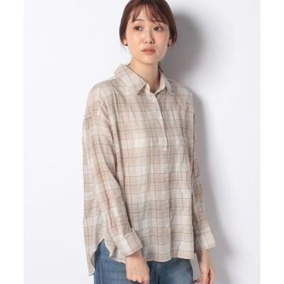 【アースミュージック&エコロジー】コットンワッシャーシャツ