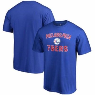 Fanatics Branded ファナティクス ブランド スポーツ用品  Philadelphia 76ers Blue Big & Tall Victory Arch T-Shirt