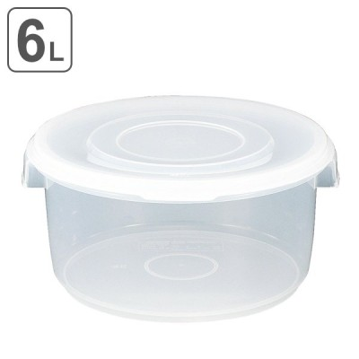 漬物容器 6L 深型 クリア 漬物シール 6型 ( 漬け物容器 漬物樽 お漬物 )