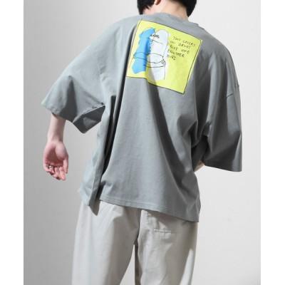 ZIP FIVE / 【別注】【Mark Gonzales】 バックイラストゆるプリントビッグシルエット半袖Tシャツ【ユニセックス】 MEN トップス > Tシャツ/カットソー