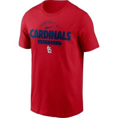 ナイキ Tシャツ トップス メンズ Nike Men's St. Louis Cardinals Property Of Short Sleeve T-shirt Red