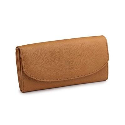[リエール] LIERRE 日本製 本革 かぶせ長財布 レディース レザーウォレット 大人 シンプル 大容量… (キャメル)