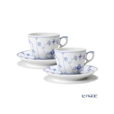 ロイヤルコペンハーゲン ブルー フルーテッド プレイン コーヒーカップ&ソーサー 160cc ペア 1101071/1017173