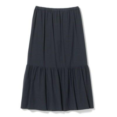 スカート 【手洗い可能】BEAMS LIGHTS / 切替ギャザマキシ スカート