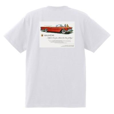 アドバタイジング ビュイック 269 白 Tシャツ 黒地へ変更可能 1957 スーパー リビエラ センチュリー ロードマスター オールディーズ