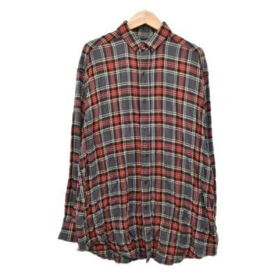 【4月22日値下】Rags McGREGOR ビッグチェックシャツ BIG CHECK R/C SHIRT 211178103 グレー・レッド他 サイ