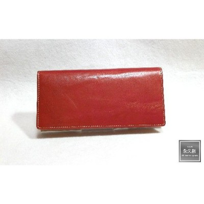 本革 ロングウォレット(長財布)  レッド(赤) NIFTY Nativeシリーズ XO1 永久創 財布 メンズ サイフ 粋 2つ折り 二つ折 二つ折り 人気 販売 牛革 クリスマ