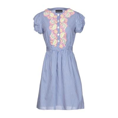 BOUTIQUE MOSCHINO ミニワンピース&ドレス ブルー 42 コットン 80% / シルク 20% ミニワンピース&ドレス