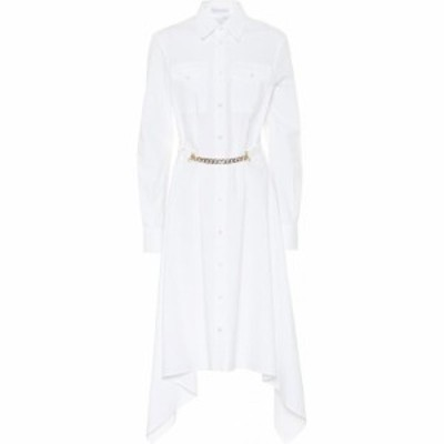J.W.アンダーソン JW Anderson レディース ワンピース シャツワンピース ワンピース・ドレス Asymmetric cotton shirt dress White