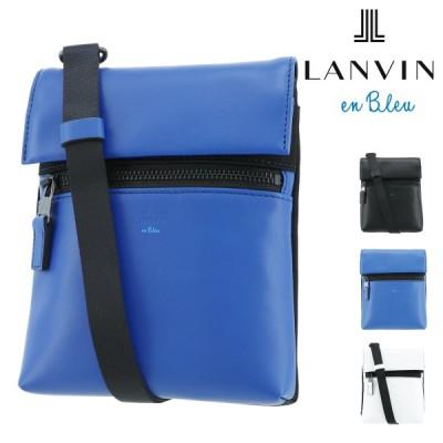 ランバンオンブルー ショルダーバッグ レオ メンズ 583111 LANVIN en Bleu   ミニショルダー 斜め掛け 牛革 本革 レザー