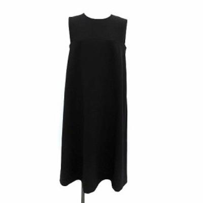 【中古】ダイアンフォンファステンバーグ ワンピース ドレス ノーカラー ロング ノースリーブ 6 M 黒 ブラック