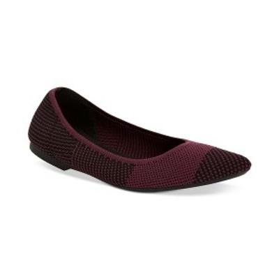 アルファニ レディース サンダル シューズ Women's Step 'N Flex Poppyy Pointed Toe Knit Flats Wine