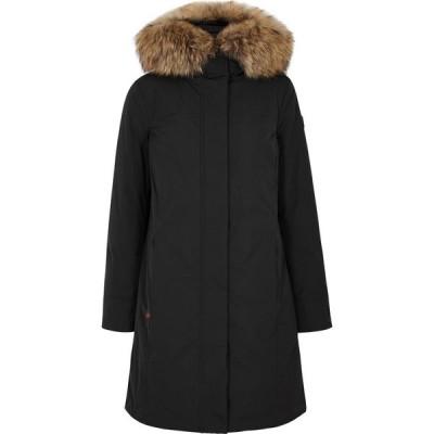 ウールリッチ Woolrich レディース コート アウター boulder black fur-trimmed shell parka Black