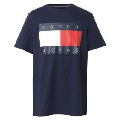 【即納】トミー ヒルフィガー Tommy Hilfiger メンズ Tシャツ トップス TJ FLAG TEE 78F0175 002 BLACK IRIS フラッグロゴ クルーネック