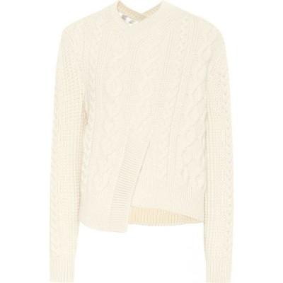 ヴィクトリア ベッカム Victoria Beckham レディース ニット・セーター トップス cable-knit wool sweater Vanilla