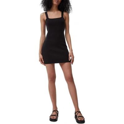 フレンチコネクション French Connection レディース ボディコンドレス タイト ワンピース・ドレス Lynne Ribbed Bodycon Dress Black