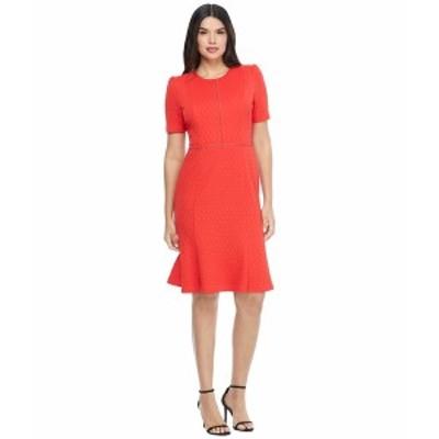 マギーロンドン レディース ワンピース トップス Stretchy Knit Sheath Dress High Risk Red