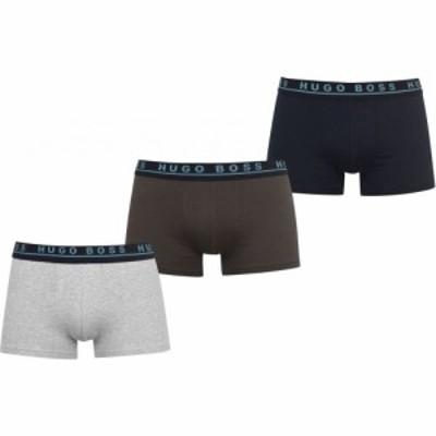 ヒューゴ ボス Boss Bodywear メンズ ボクサーパンツ 3点セット インナー・下着 Three Pack Logo Boxer Trunks Grn/Gry/Nvy