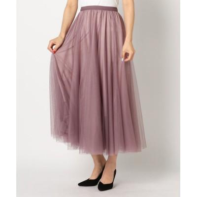 【ミューズ リファインド クローズ】 チュールミモレスカート レディース ピンク M MEW'S REFINED CLOTHES