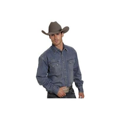 ウエスタン カウボーイ カジュアルシャツ トップス ステットソン  Stetson Western Shirt メンズ デニム クラシック L/S ブルー 11-001-0465-0031 BU