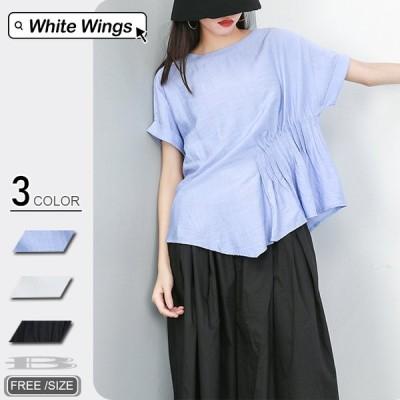 Tシャツ レディース夏黒 コーデ春 フォーマル きれいめ 40代 30代 20代 丸首 非対称