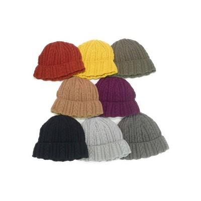 ニット帽、ニットキャップ ニット 帽子 年間品 Rubenコットンケーブルワッチ ヤング