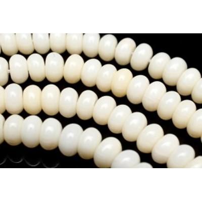 ホワイトコーラル ボタン 6x3mm 1連(約38cm)_R5883