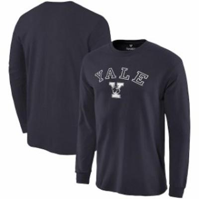 Fanatics Branded ファナティクス ブランド スポーツ用品  Fanatics Branded Yale Bulldogs Navy Campus Long Sleeve T-Shirt