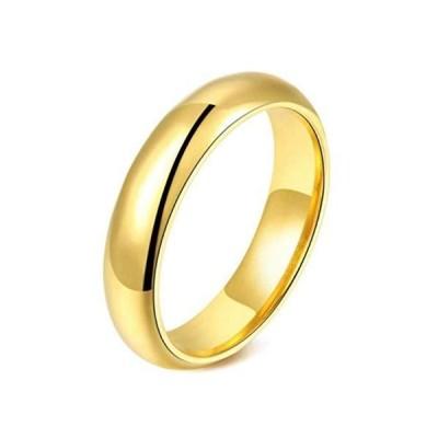 リング 細め ステンレス 指輪 レディース k18金仕上げ 人気 ゆびわ 贈り物 アクセサリー シンプルおしゃれ ファッション (ゴールド-