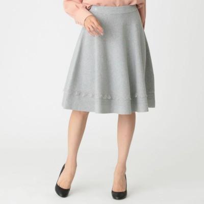 【ウォッシャブル】パウダリーレーヨンストレッチニットスカート