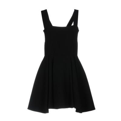 ファウスト プリージ FAUSTO PUGLISI ミニワンピース&ドレス ブラック 44 ウール 100% ミニワンピース&ドレス