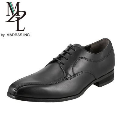 エムディエル MDL DS4060 メンズ ビジネスシューズ 本革 外羽根 スワールモカ 軽量 ブラック