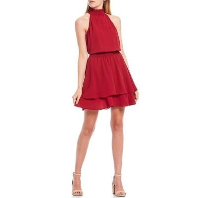 ビーダーリン レディース ワンピース トップス Mock-Neck Smocked Blouson Dress