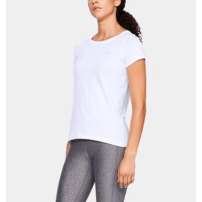 アンダーアーマー レディース Tシャツ Under Armour UA HeatGear Armour T-Shirt 半袖 White