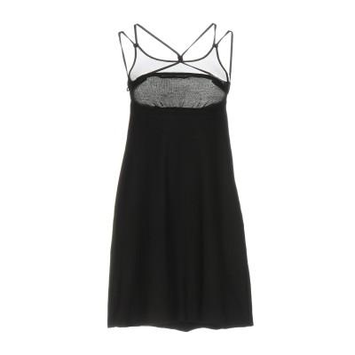 ERMANNO DI ERMANNO SCERVINO ミニワンピース&ドレス ブラック 42 コットン 100% ミニワンピース&ドレス