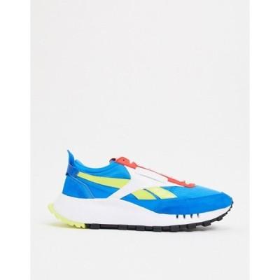 リーボック メンズ スニーカー シューズ Reebok Classic Legacy sneakers in blue and red