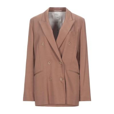 メルシー ..,MERCI テーラードジャケット キャメル 44 レーヨン 100% テーラードジャケット