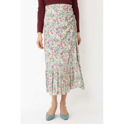 【ジルスチュアート】 ◆キャンディス小花柄ギャザースカート レディース OFFWHITE 4 JILLSTUART