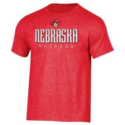 メンズ スポーツリーグ アメリカ大学スポーツ Men's Russell Athletic Scarlet Nebraska Cornhuskers Crew Basic Logo T-Shirt Tシャツ