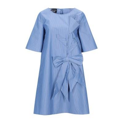 BOUTIQUE MOSCHINO ミニワンピース&ドレス ブルー S コットン 67% / ポリエステル 33% ミニワンピース&ドレス