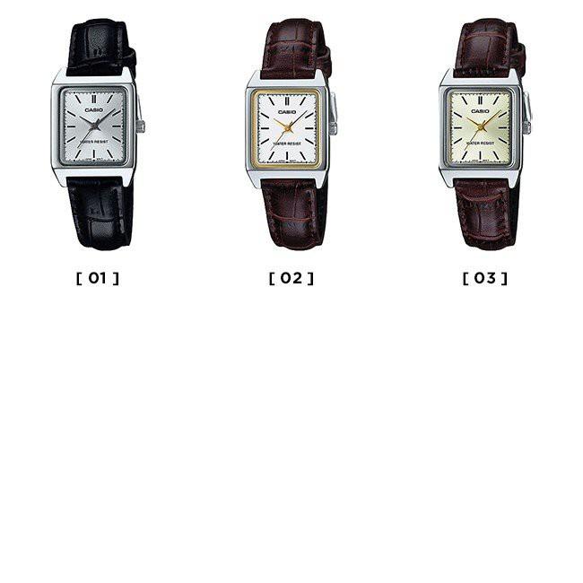 CASIO簡潔大方的三針-時、分、秒針設計 女裝手錶LTP-V007L-9E LTP-V007L黃面