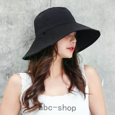 帽子 レディース 春 夏 秋 UVカット サファリハット つば広 UV 帽子 レディース ハット 日よけ 折りたたみ 女優帽 飛ばない