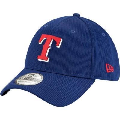 ニューエラ メンズ 帽子 アクセサリー New Era Men's Texas Rangers Blue 39Thirty Clubhouse Stretch Fit Hat