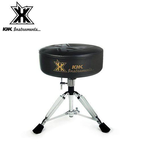 KHK DT1000C-BOK 強化鼓椅 黑底黑標款【敦煌樂器】