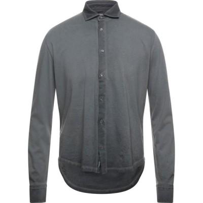 ブルックスフィールド BROOKSFIELD メンズ シャツ トップス solid color shirt Steel grey