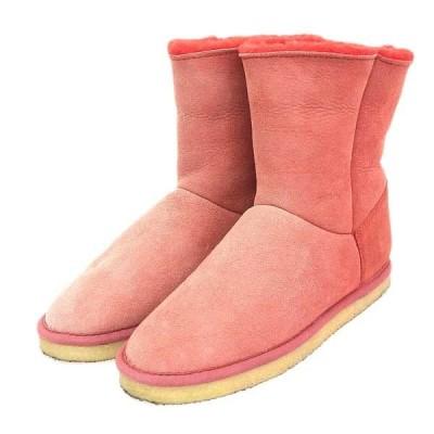 ミュベール MUVEIL レディース ショート ムートンブーツ 靴 赤 レッド M02512