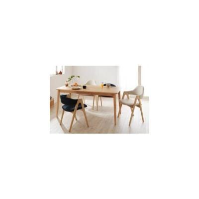 ダイニングテーブルセット 4人用 椅子 おしゃれ 北欧 食卓 5点 ( 机+チェア4脚 ) ハイ・ローミックス 幅150 デザイナーズ スタイリッシュ 無垢 引き出し 収納