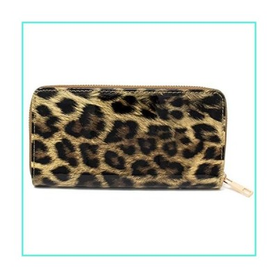 【新品】Me Plus Women Leopard Print Wallet Zipper Closure Card Slots Zippered Coin Pouch (Beige-Leopard)(並行輸入品)